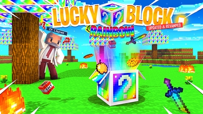 Lucky Block Rainbow on the Minecraft Marketplace by Kubo Studios