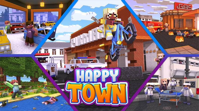 Happy Town on the Minecraft Marketplace by Kubo Studios