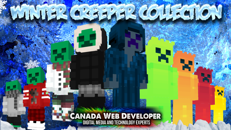 Winter Creeper Collection on the Minecraft Marketplace by Canada Web Developer