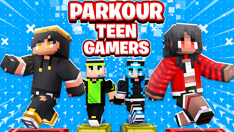 Parkour Teen Gamers on the Minecraft Marketplace by The Lucky Petals