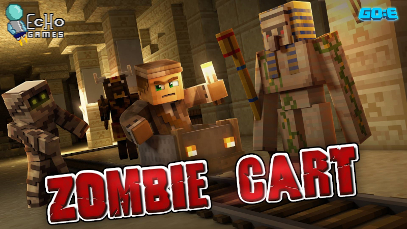 Zombie Cart Pharaohs Revenge on the Minecraft Marketplace by GoE-Craft