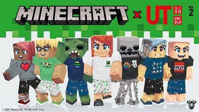 Minecraft x UNIQLO Skins Vol 2 on the Minecraft Marketplace by Mike Gaboury