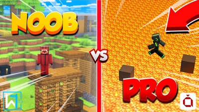 Parkour Noob vs Pro on the Minecraft Marketplace by Waypoint Studios