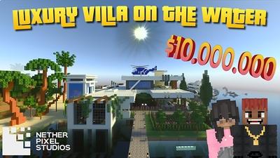 Luxury Villa on the Water on the Minecraft Marketplace by Netherpixel