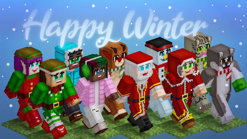 Happy Winter on the Minecraft Marketplace by BLOCKLAB Studios