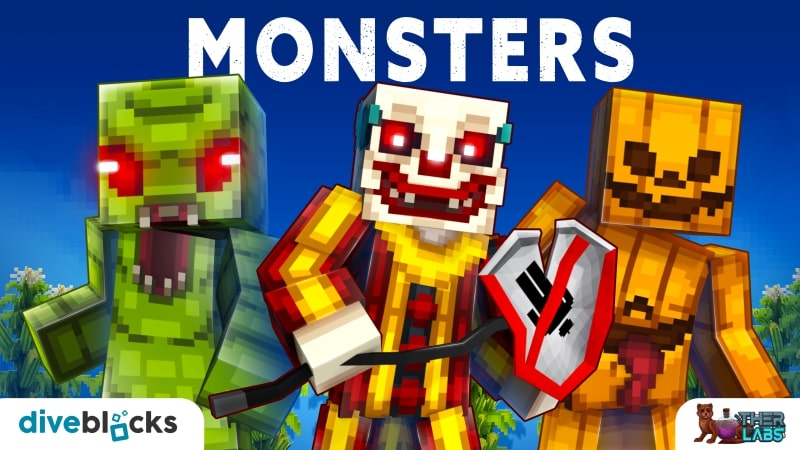 Monsters on the Minecraft Marketplace by Diveblocks