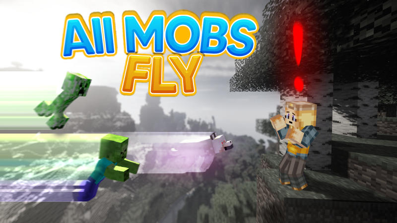 All Mobs Fly on the Minecraft Marketplace by BLOCKLAB Studios