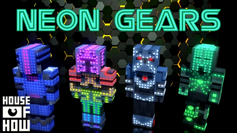 Neon Gears on the Minecraft Marketplace by House of How