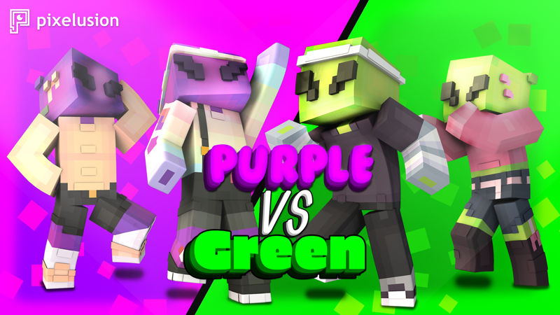 Purple VS Green on the Minecraft Marketplace by Pixelusion