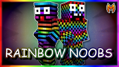 Rainbow Noobs on the Minecraft Marketplace by Metallurgy Blockworks