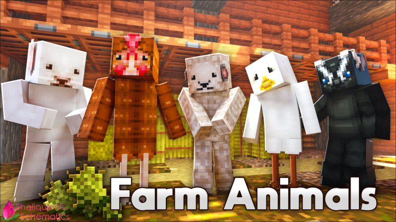 Farm Animals on the Minecraft Marketplace by Shaliquinn's Schematics
