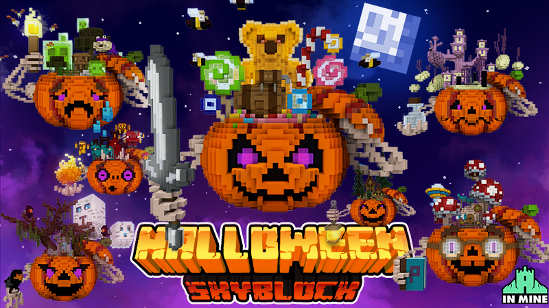 Skyblock Halloween on the Minecraft Marketplace by In Mine