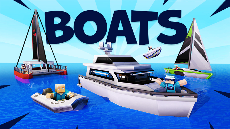 Boats on the Minecraft Marketplace by Team Vaeron