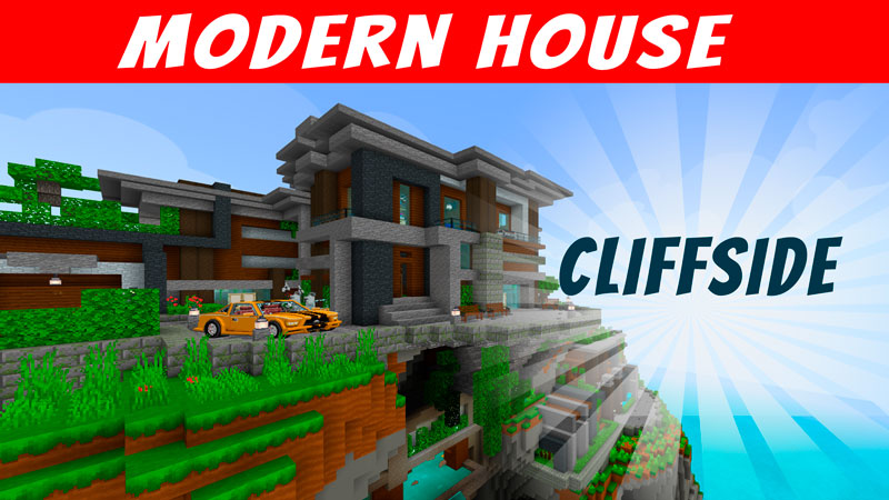 Modern House Cliffside on the Minecraft Marketplace by VoxelBlocks