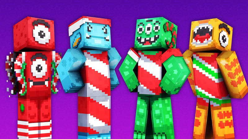 Candy Cane Monsters on the Minecraft Marketplace by 57Digital