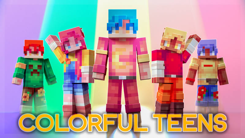 Colorful Teens on the Minecraft Marketplace by BLOCKLAB Studios