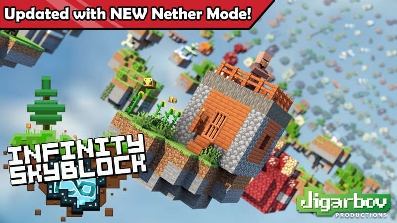 Infinity Skyblock on the Minecraft Marketplace by Jigarbov Productions