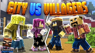 City vs Villagers on the Minecraft Marketplace by Tomhmagic Creations