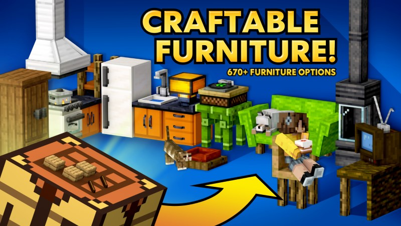Craftable Furniture on the Minecraft Marketplace by Shapescape