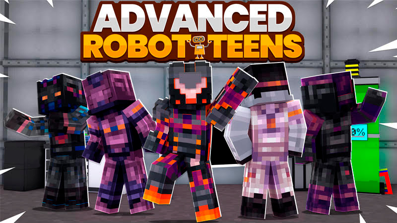 Advanced Robot Teens on the Minecraft Marketplace by Kubo Studios
