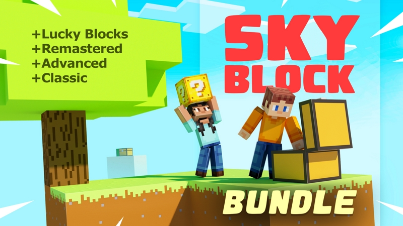 SKYBLOCK BUNDLE 4x Worlds on the Minecraft Marketplace by Spark Squared