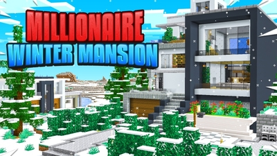 Millionaire Winter Mansion on the Minecraft Marketplace by Fall Studios