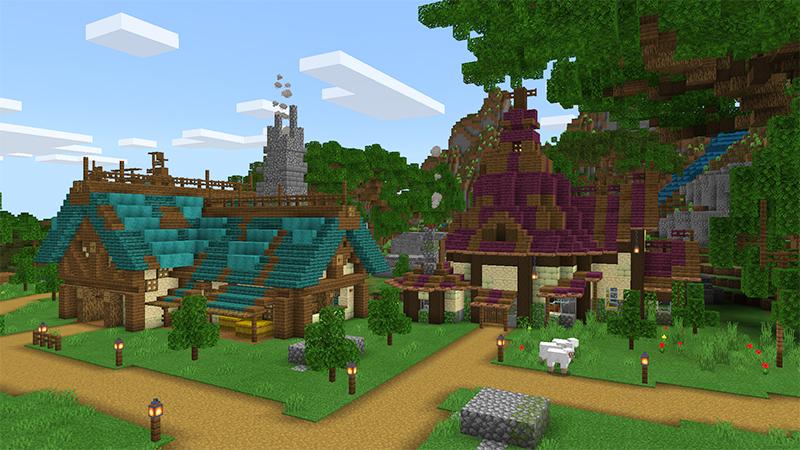 Fantasy Village by Diluvian
