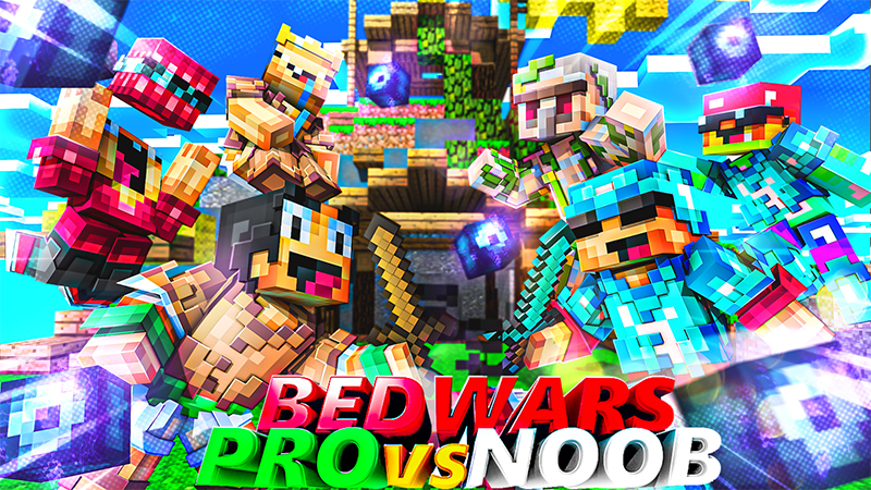 Bedwars Pro vs Noob on the Minecraft Marketplace by Diluvian