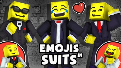 Emojis in Suits on the Minecraft Marketplace by The Lucky Petals