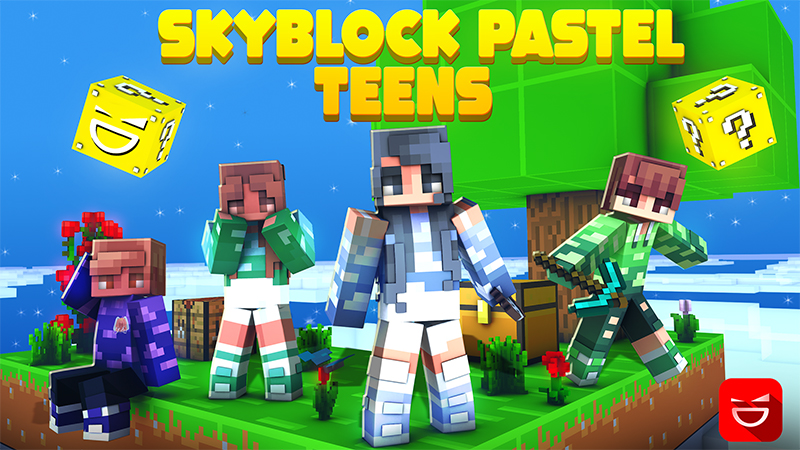 Skyblock Pastel Teens on the Minecraft Marketplace by Giggle Block Studios