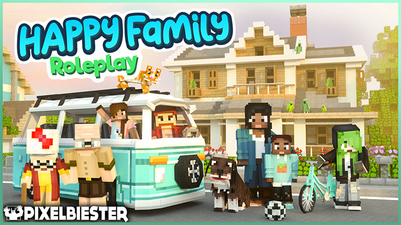 Happy Family  Roleplay on the Minecraft Marketplace by Pixelbiester