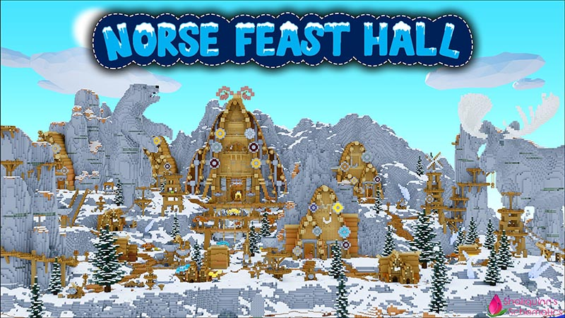 Norse Feast Hall on the Minecraft Marketplace by Shaliquinn's Schematics