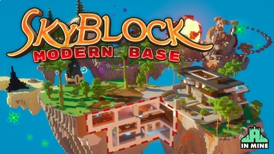 Skyblock Modern Base on the Minecraft Marketplace by In Mine