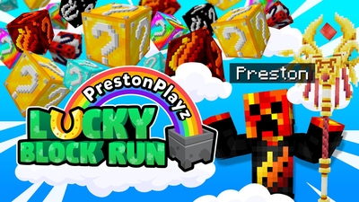 PrestonPlayz Lucky Block Run on the Minecraft Marketplace by Meatball Inc