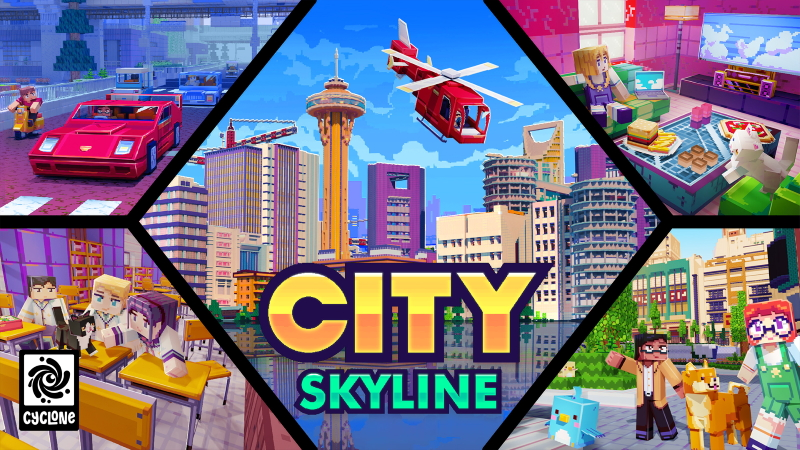 City Skyline on the Minecraft Marketplace by Cyclone