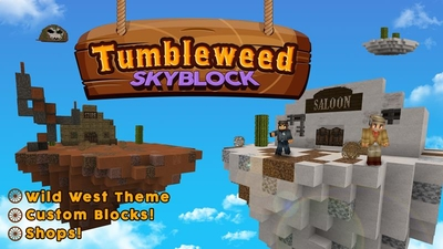 Tumbleweed Skyblock on the Minecraft Marketplace by Magefall