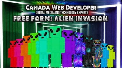 Free Form Alien Invasion on the Minecraft Marketplace by CanadaWebDeveloper