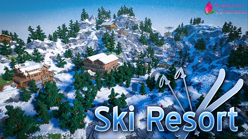 Ski Resort on the Minecraft Marketplace by Shaliquinn's Schematics