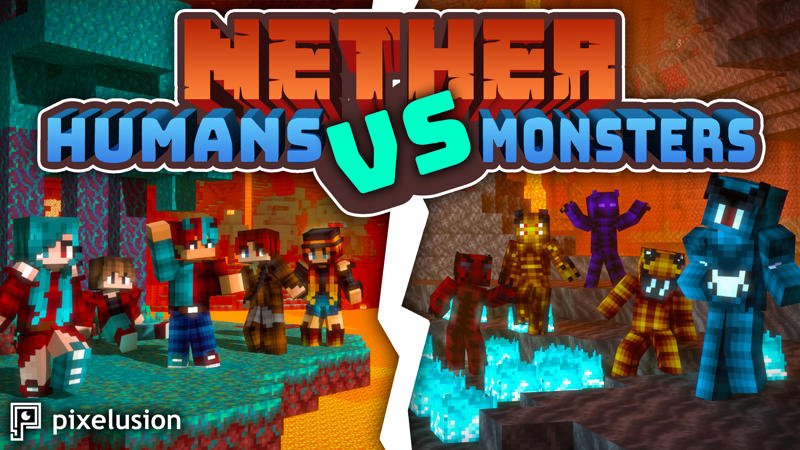 Nether Humans VS Monsters on the Minecraft Marketplace by Pixelusion