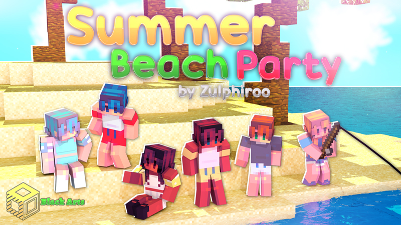 Summer Beach Party on the Minecraft Marketplace by Black Arts Studio