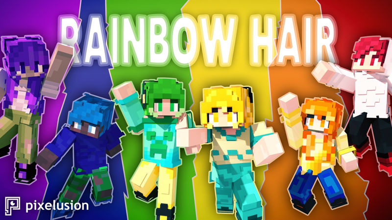 Rainbow Hair on the Minecraft Marketplace by Pixelusion