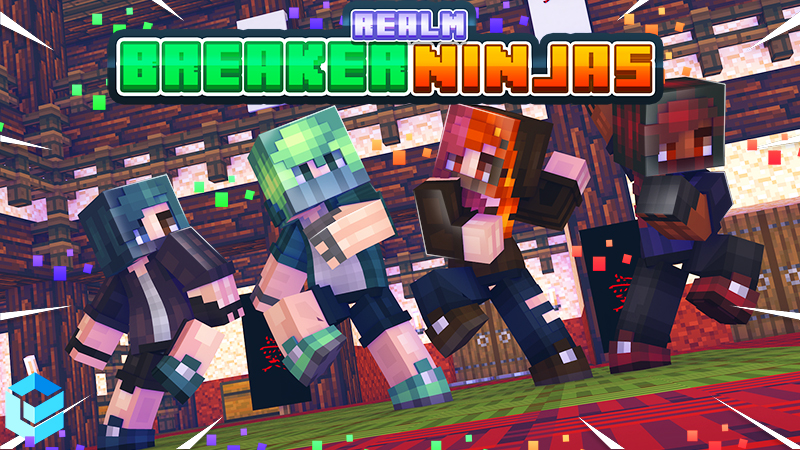 Realm Breaker Ninjas on the Minecraft Marketplace by Entity Builds