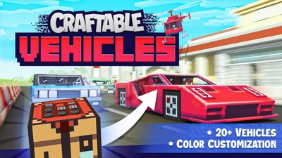 Craftable Vehicles on the Minecraft Marketplace by Shapescape