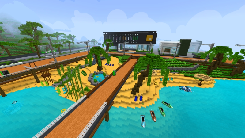 Modern Private Island on the Minecraft Marketplace by VoxelBlocks