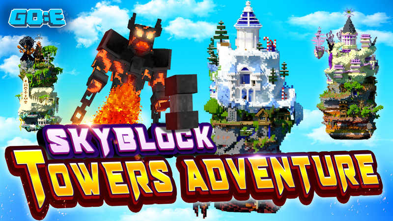 Skyblock Towers Adventure on the Minecraft Marketplace by GoE-Craft