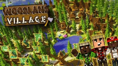 Woodland Village on the Minecraft Marketplace by Norvale