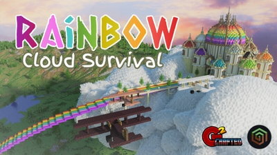 Rainbow Cloud Survival on the Minecraft Marketplace by G2Crafted