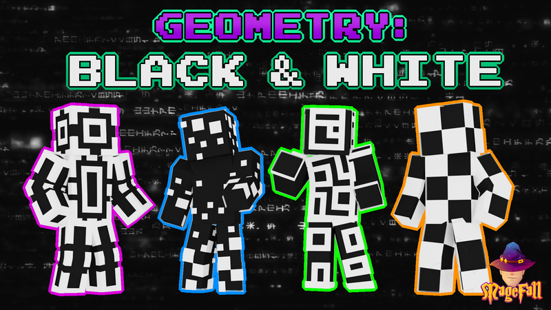 Geometry Black  White on the Minecraft Marketplace by Magefall