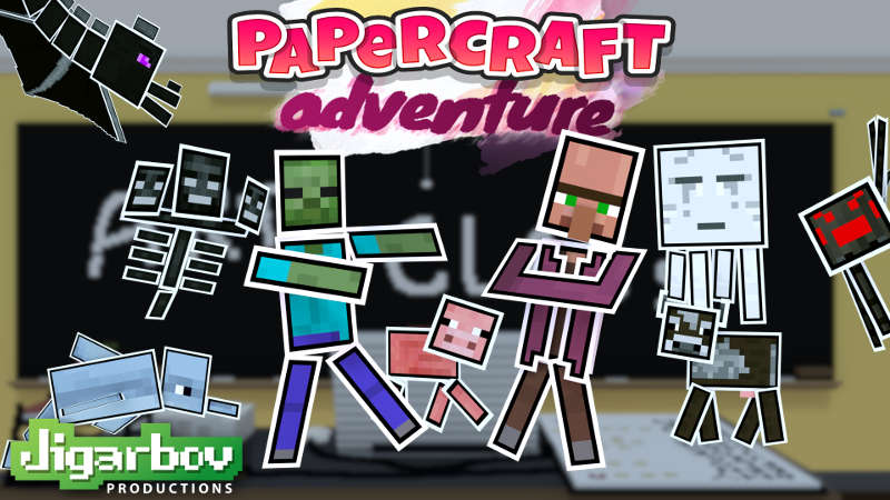 Papercraft Adventure on the Minecraft Marketplace by Jigarbov Productions
