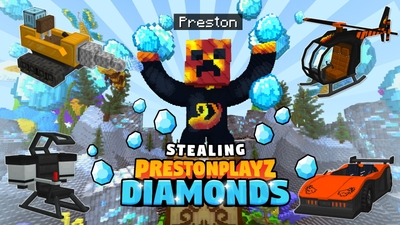 Stealing PrestonPlayz Diamonds on the Minecraft Marketplace by Meatball Inc